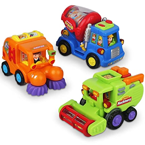Amazon Com Friction Powered Push And Go Car Toys For Boys