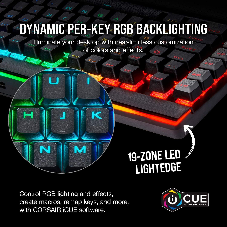 Black Cherry MX RGB Brown Backlit RGB LED Corsair K95 RGB Platinum XT Mechanical Gaming Keyboard