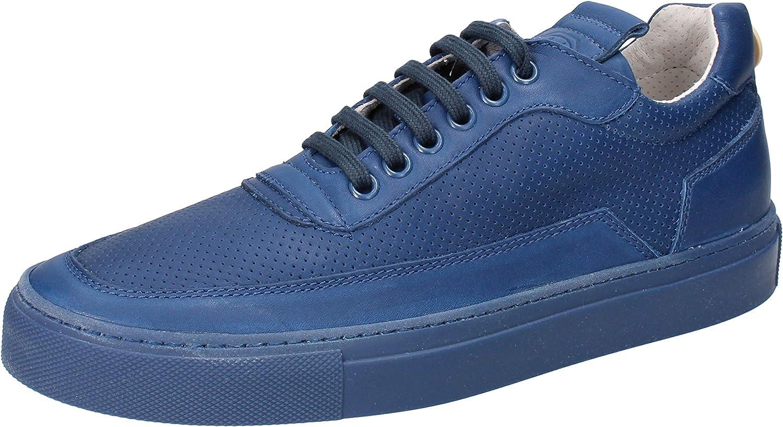 MARIANO DI VAIO Zapatillas de Deporte Hombre Cuero Azul