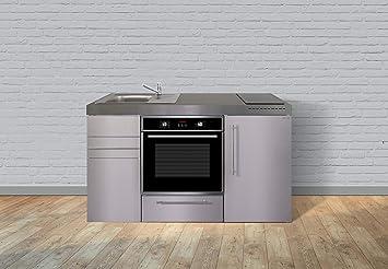Miniküche Mit Backofen Und Kühlschrank : Stengel steel concept miniküche premiumline mpbes u edelstahl