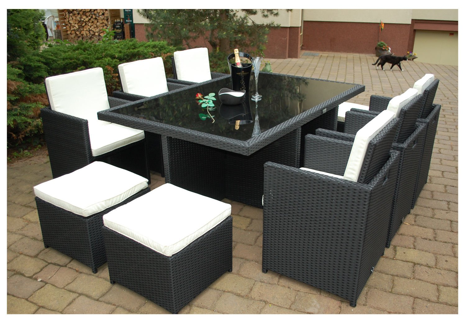 ssitg poly rattan gartenm bel 6 4 schwarz ragnar k m beldesign garten garnitur m bel g nstig kaufen. Black Bedroom Furniture Sets. Home Design Ideas