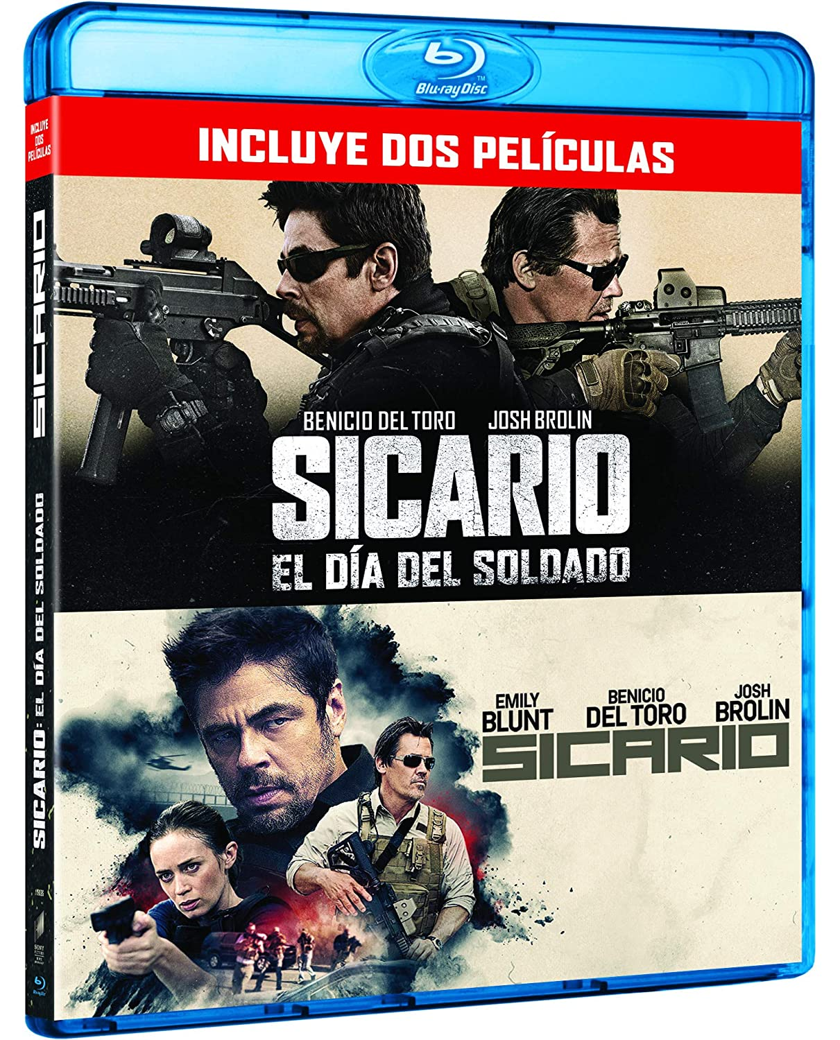 Pack: Sicario 1 + Sicario 2 [Blu-ray]: Amazon.es: Benicio Del Toro, Josh Brolin, Isabela Moner, Stefano Sollima, Benicio Del Toro, Josh Brolin, Black Label Media, Thunder Road Pictures: Cine y Series TV