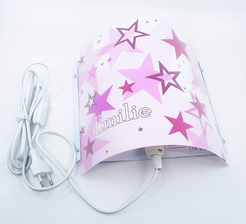 Fu/ßball CreaDesign WA-1011 E14 22 x 22,5 x 85 cm Nachtlicht//Schlummerlicht f/ür Steckdose Kinderzimmer Wandlampe personalisiert mit Namen