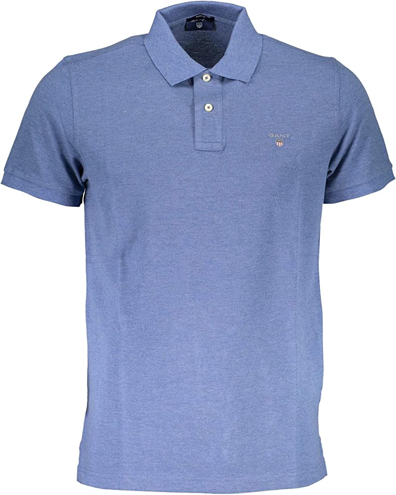 GANT Original Pique SS Rugger Camisa de Polo, Denim Blue Mel, XS ...