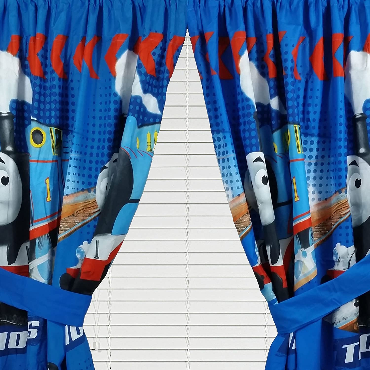 Gullane Thomas The Train Engine Friends Drapery Drapes Curtain Panels Amazoncouk Kitchen Home