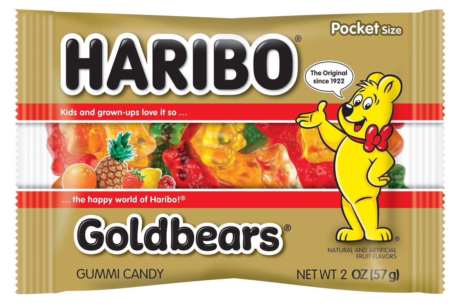 Haribo Gummi Candy, Goldbears, 2 Ounce,Pack of 4 by Haribo