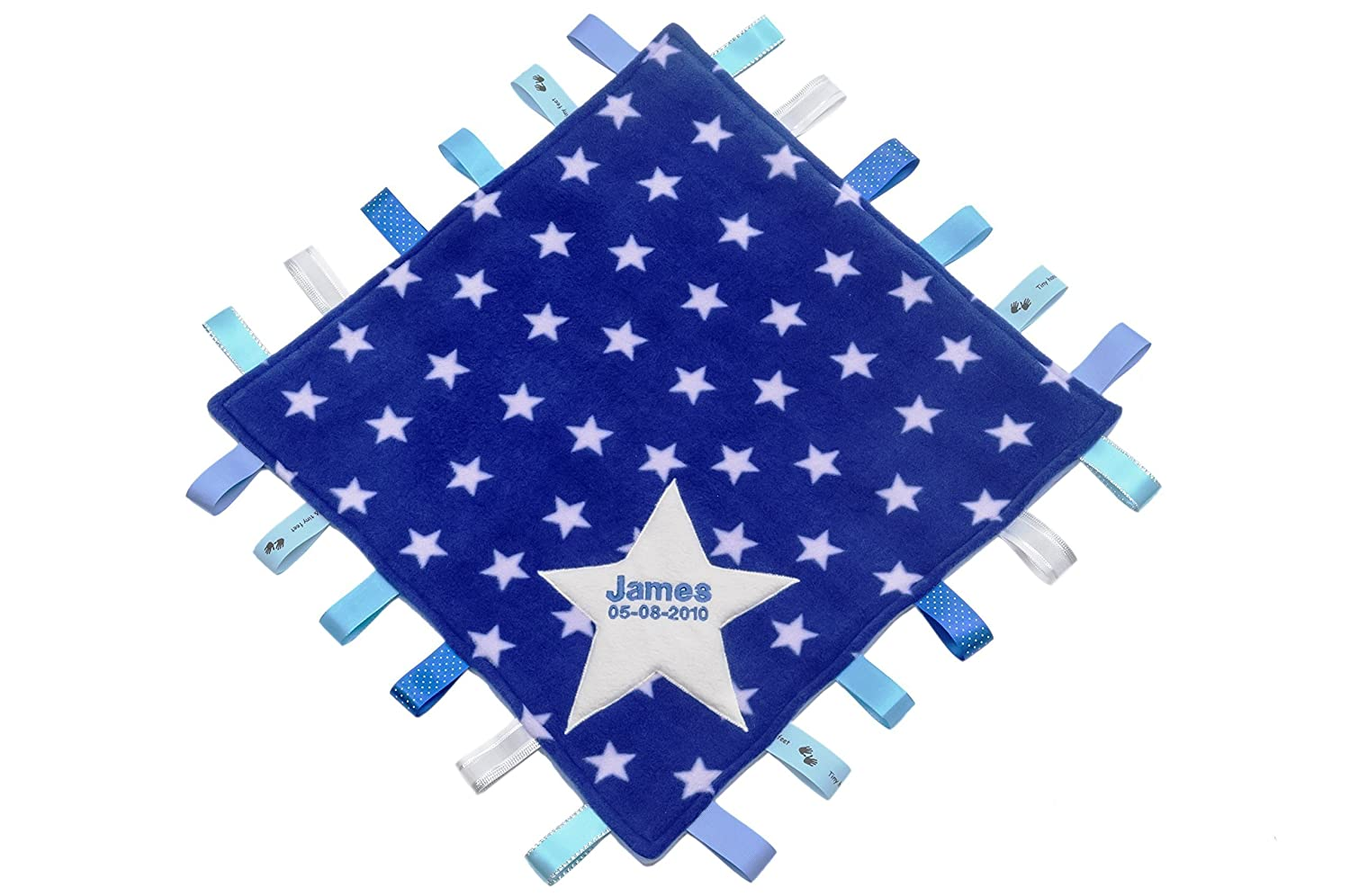 Personalised Starry Taggy Blanket