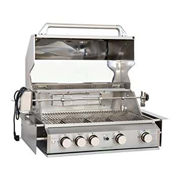 Mayer Barbecue zunda empotrable de gas barbacoa MGG de 240 ...