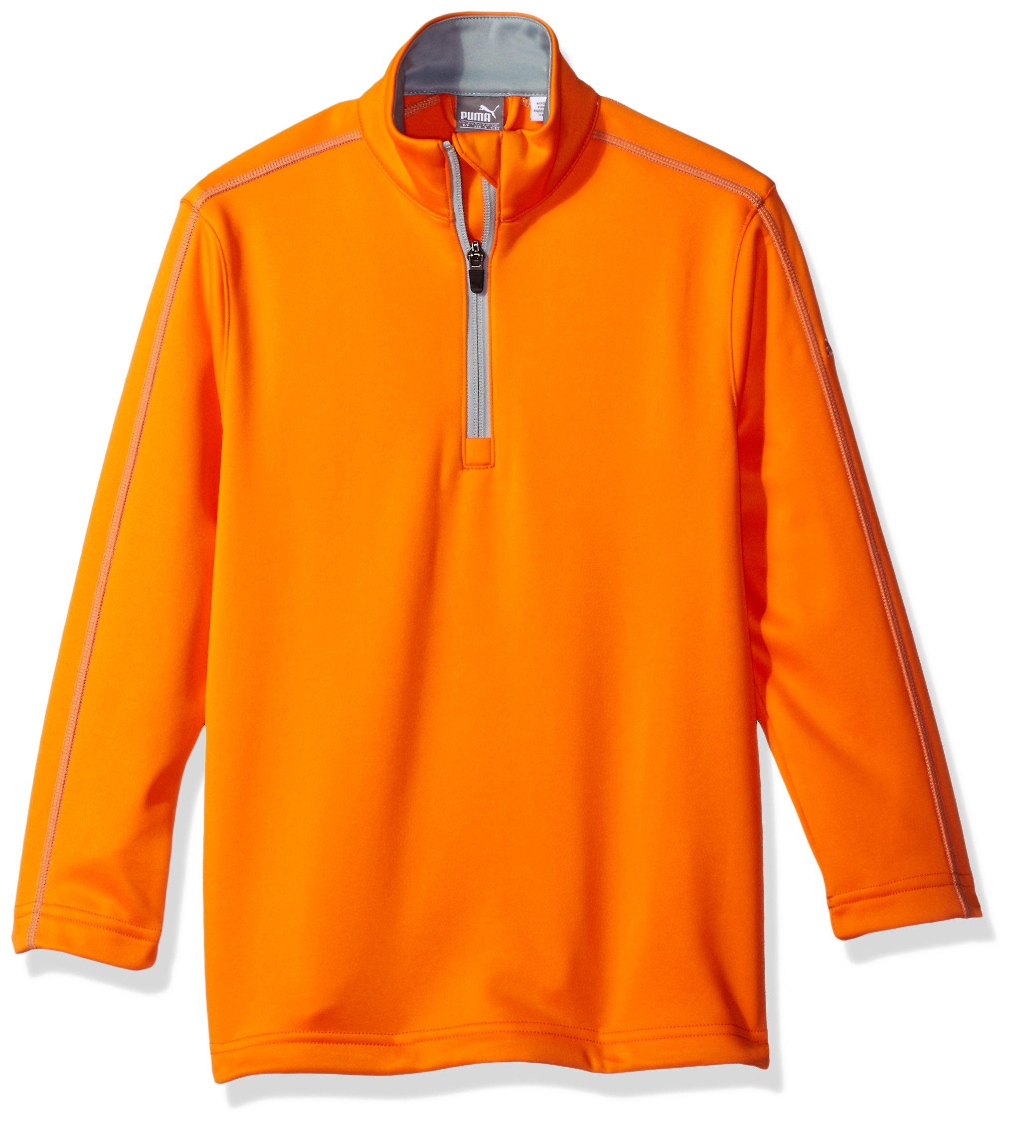 Puma Golf 2017 Kids Fleece 1/4 Zip Popover Vibrant Orange, Large by PUMA