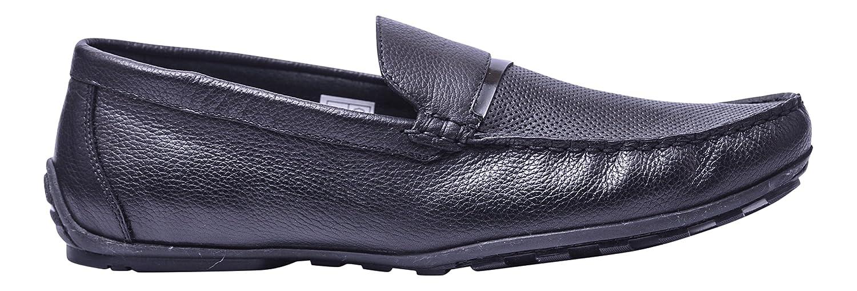 Vogar Hombre Verano Mocasines Cuero Zapatos VG4922 EU 43 / 29.3 cm|Negro