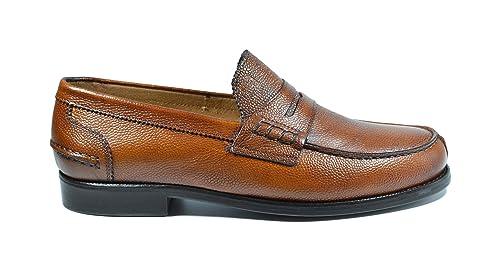 Saxone Of Scotland - Mocasines de Piel para Hombre marrón Cuero marrón Size: 6/40: Amazon.es: Zapatos y complementos