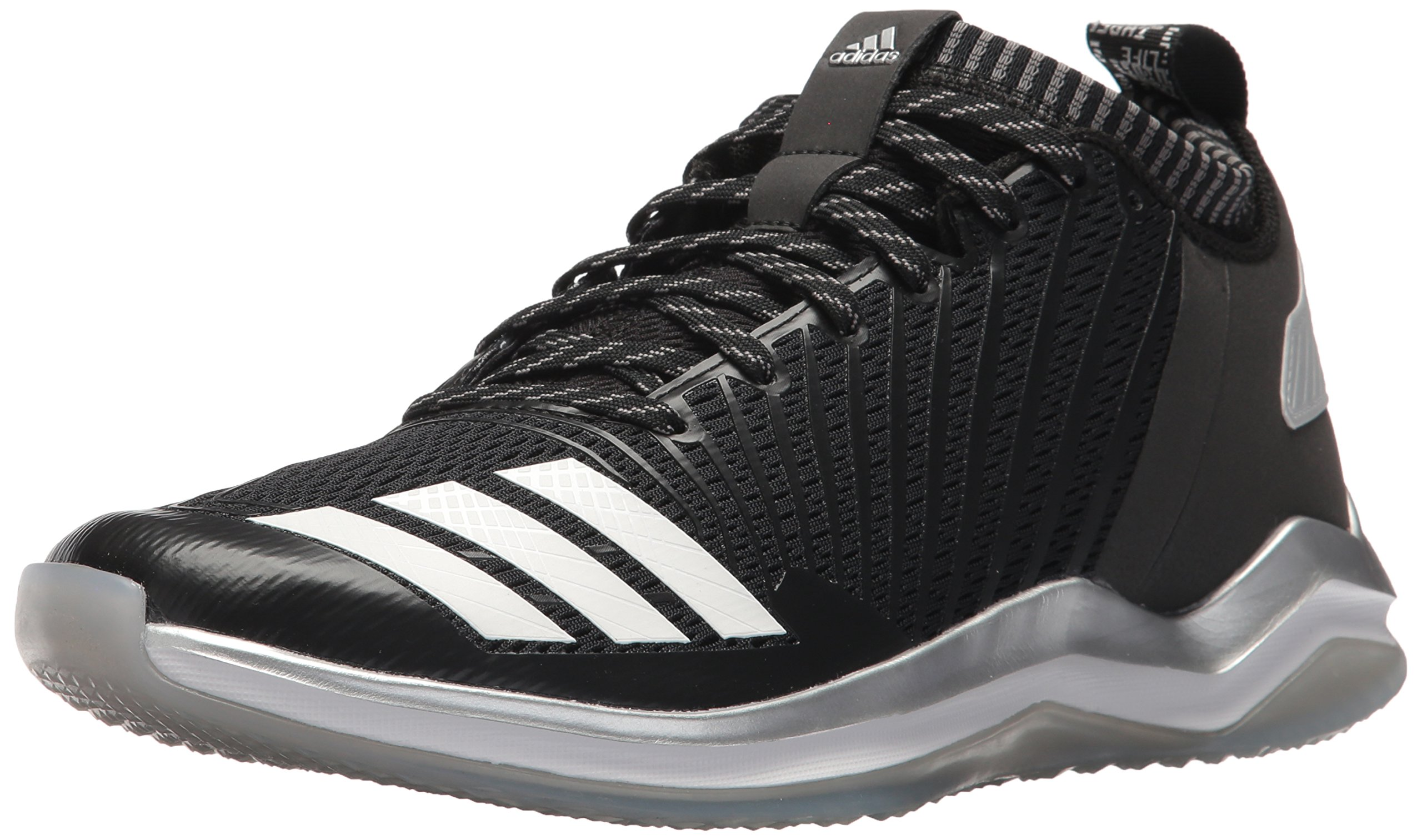 adidas Men's Freak X Carbon Mid Baseball Shoe, Black/White/Onix, 9.5 Medium US by adidas