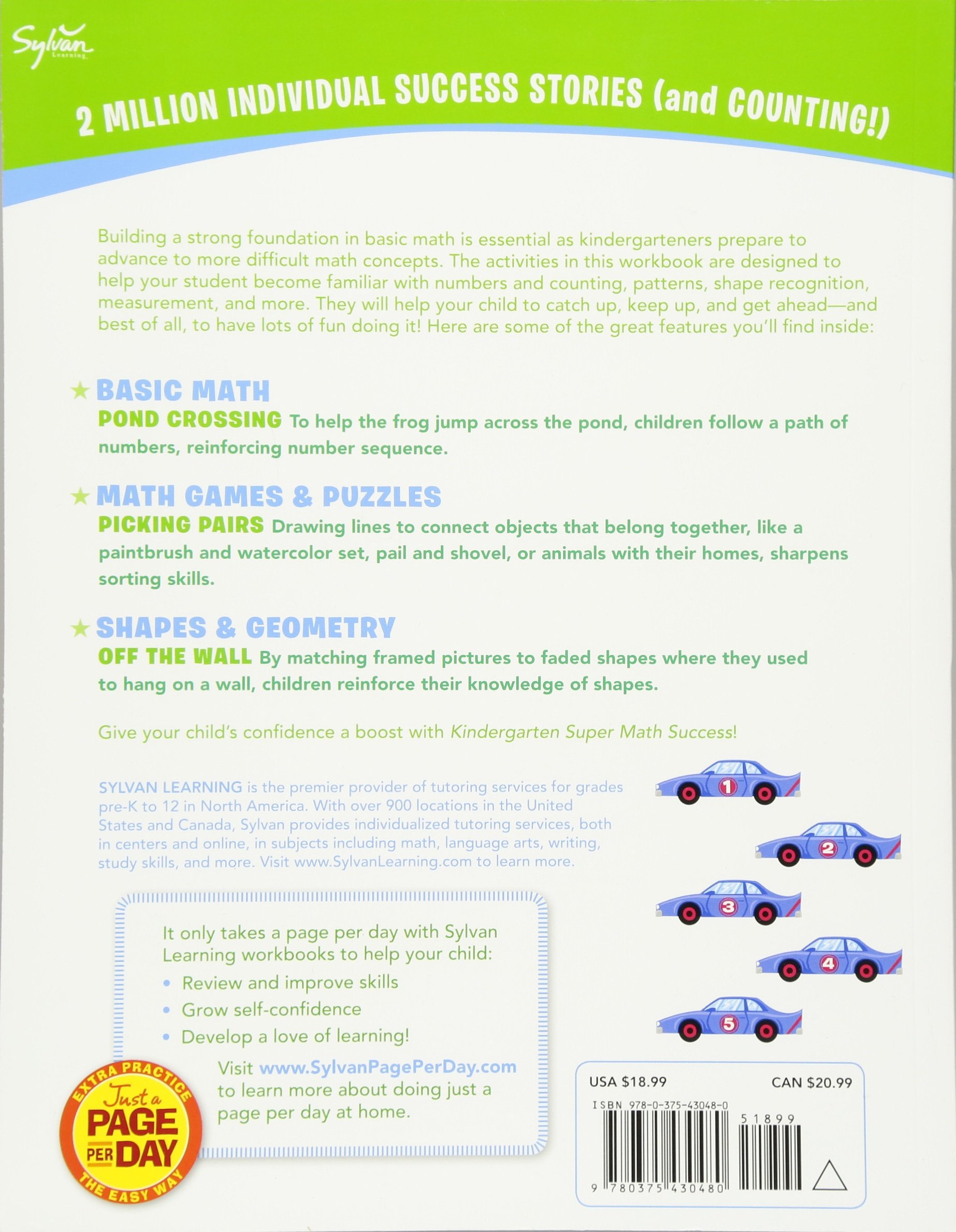Kindergarten Super Math Success: Activities, Exercises, and Tips to ...
