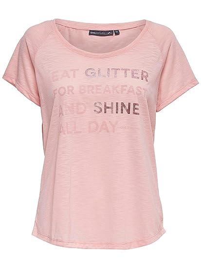 ONLY PLAY - Camisa Deportiva - para Mujer Silver Pink L: Amazon.es: Ropa y accesorios