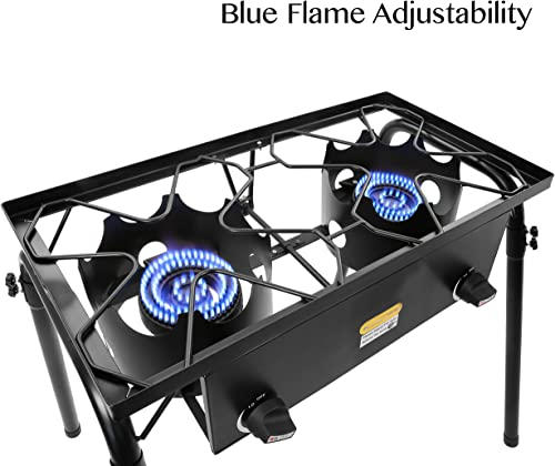 CONCORD Double Burner Outdoor Stand Stove Cooker w Regulator Brewing Supply by Concord Cookware