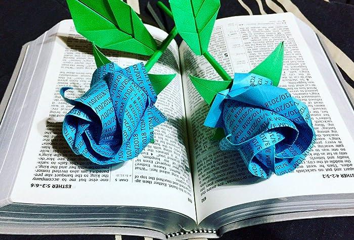 Amazon Origami Wording Rose Paper Flowers Bouquet Unique Gift