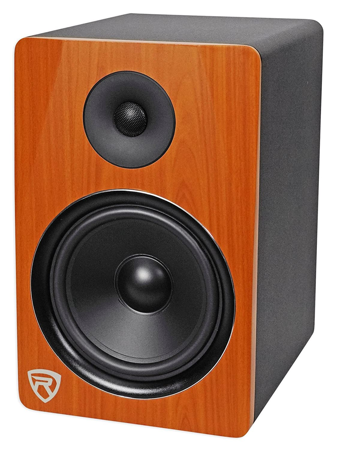 Rockville Dpm8c 8 2 Way 300w Wood Active Powered Studio M Audio Bx5a Circuit Diagram Monitor Speaker Musical Instruments