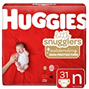Huggies Little Snugglers Baby Diapers, Size Newborn (up to 10 lb.), Jumbo Pack, 31 Count (Packaging May Vary)