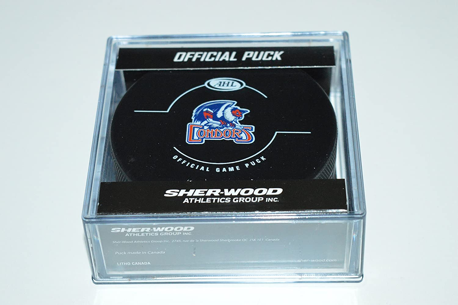 Black Inglasco AHL Bakersfield Condors Official Game Puck One Size