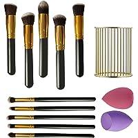 Makeup Brush Set Premium Synthetic Kabuki Foundation Face Powder Blush Eyeshadow Brushes Makeup Brush Kit with 2 Pcs…