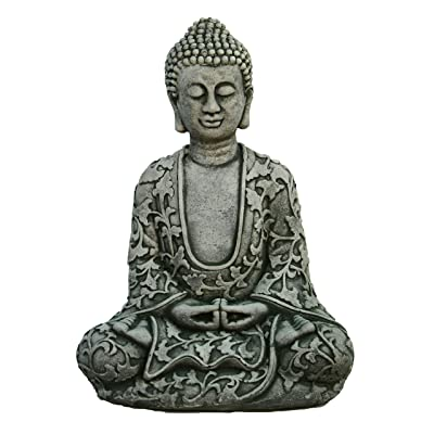 Lotus Buddha Home and Garden Statues Cement Asian Figurines : Garden & Outdoor