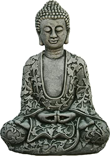 Lotus Buddha Home and Garden Statues Cement Asian Figurine