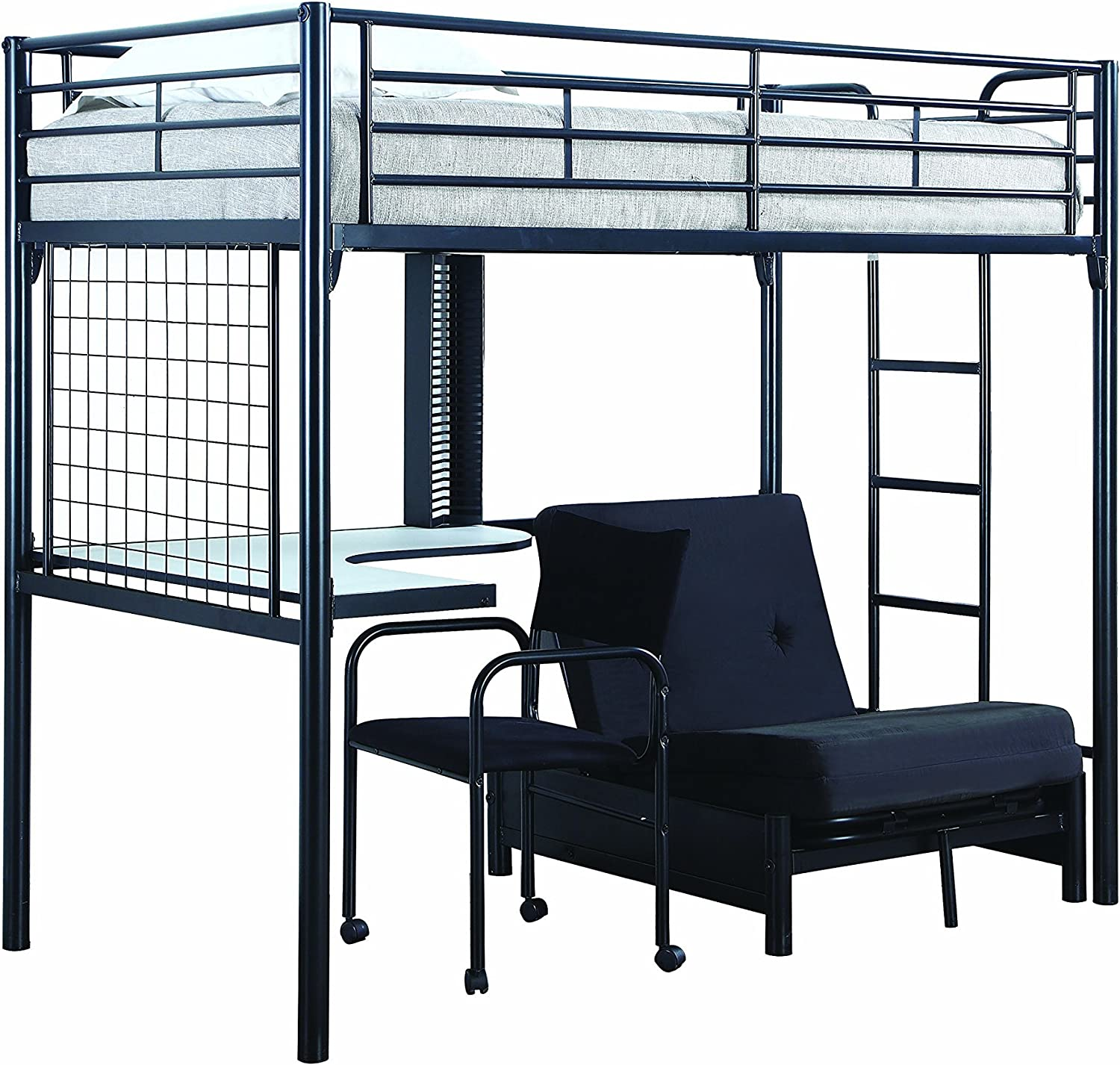 Amazon Com Twin Workstation Loft Bed Black Furniture Decor