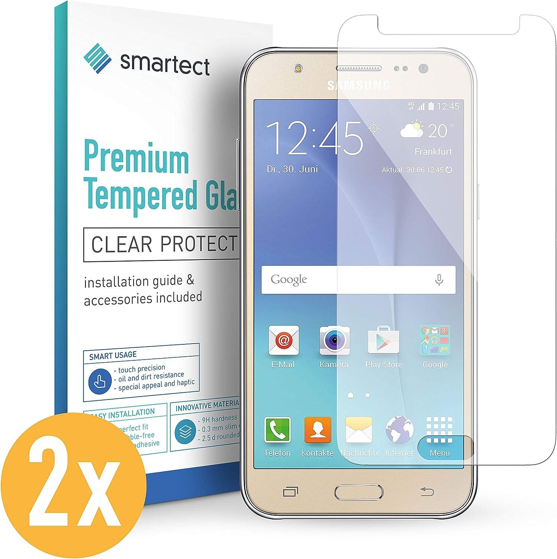 smartect Cristal Templado para Móvil Samsung Galaxy J5 2015 [2 Unidades]: Amazon.es: Electrónica