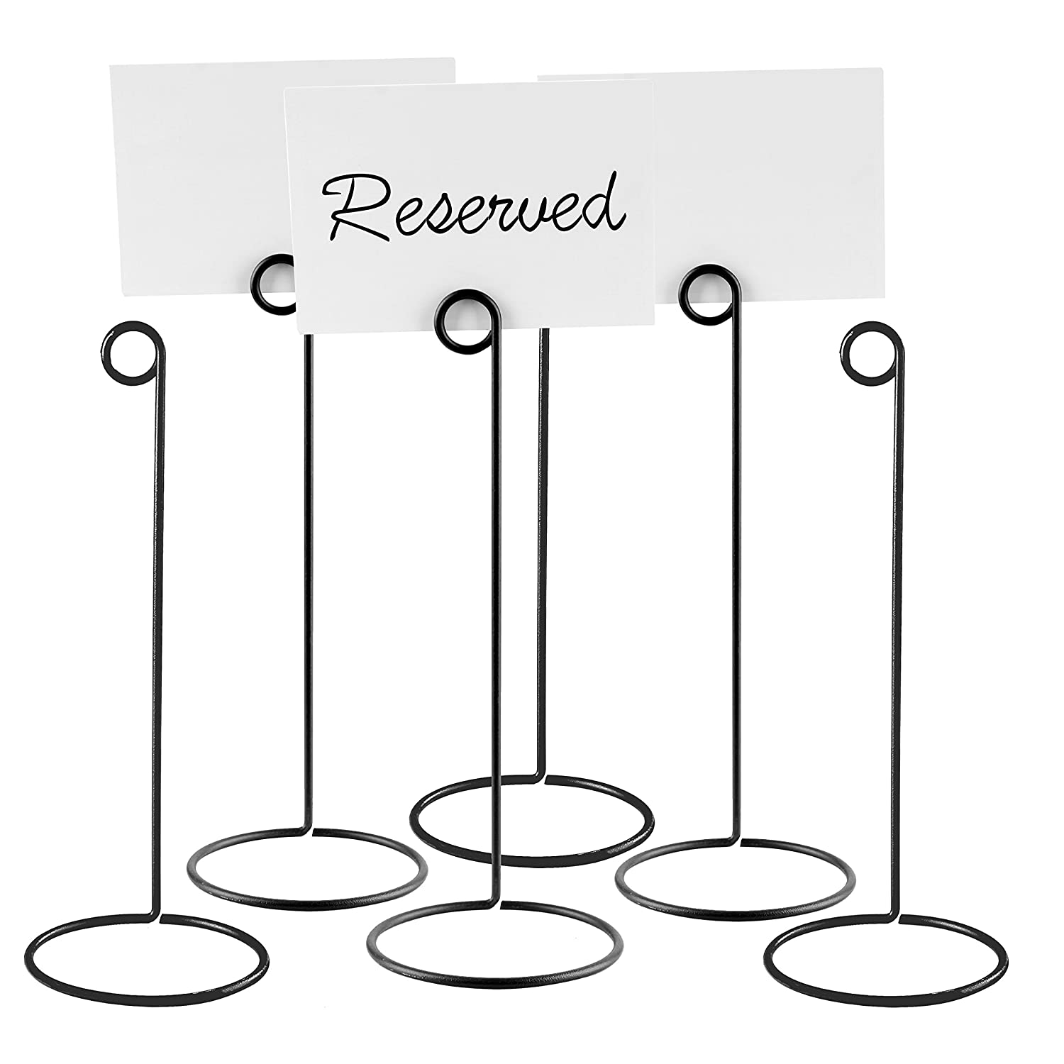 Set of 6 Metal Wire 10-Inch Business Card & Place Card Holders