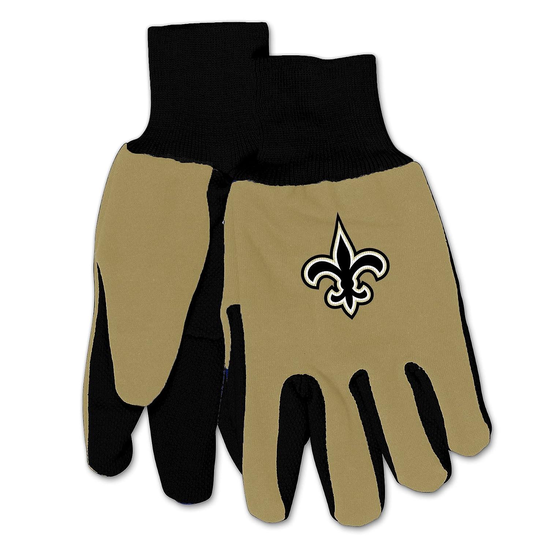 NFL新しいOrleans Saints機械/ガーデニング/作業/ユーティリティグローブwith 3dロゴ。。。  Beige on Black B01KMS28NG