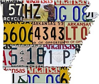 product image for ARKANSAS License Plate Map Sign, Dibond Metal Sign LAND OF OPPORTUNITY Home Decor Garage Art Great Gift Man Cave Dibond Aluminum UV Printed Rustic Sign Birthday Gift Patriotic Sign Holiday Gift