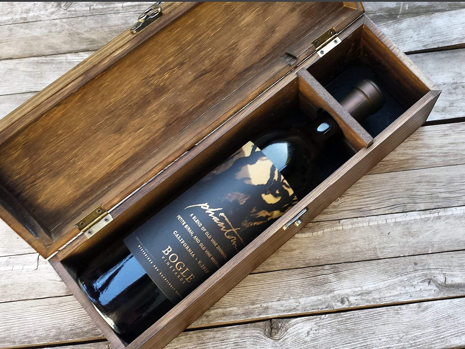Personalized for your wedding ceremony Custom wine box Cats on a Fence anniversary or gift