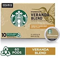 6-Pack of 10 Count Starbucks Veranda Blend Blonde Roast Single Cup Coffee for Keurig Brewers
