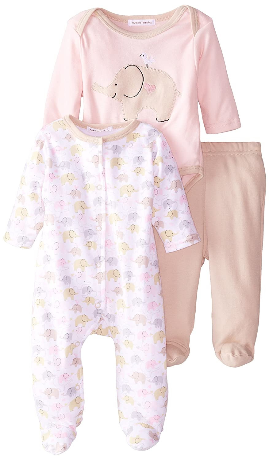 rumble tumble S3203N Baby Clothing, Pink, 3-6