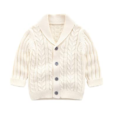 60b3d61bc Amazon.com  Infant Baby Boys Cardigan Crochet Sweater V-Neck ...