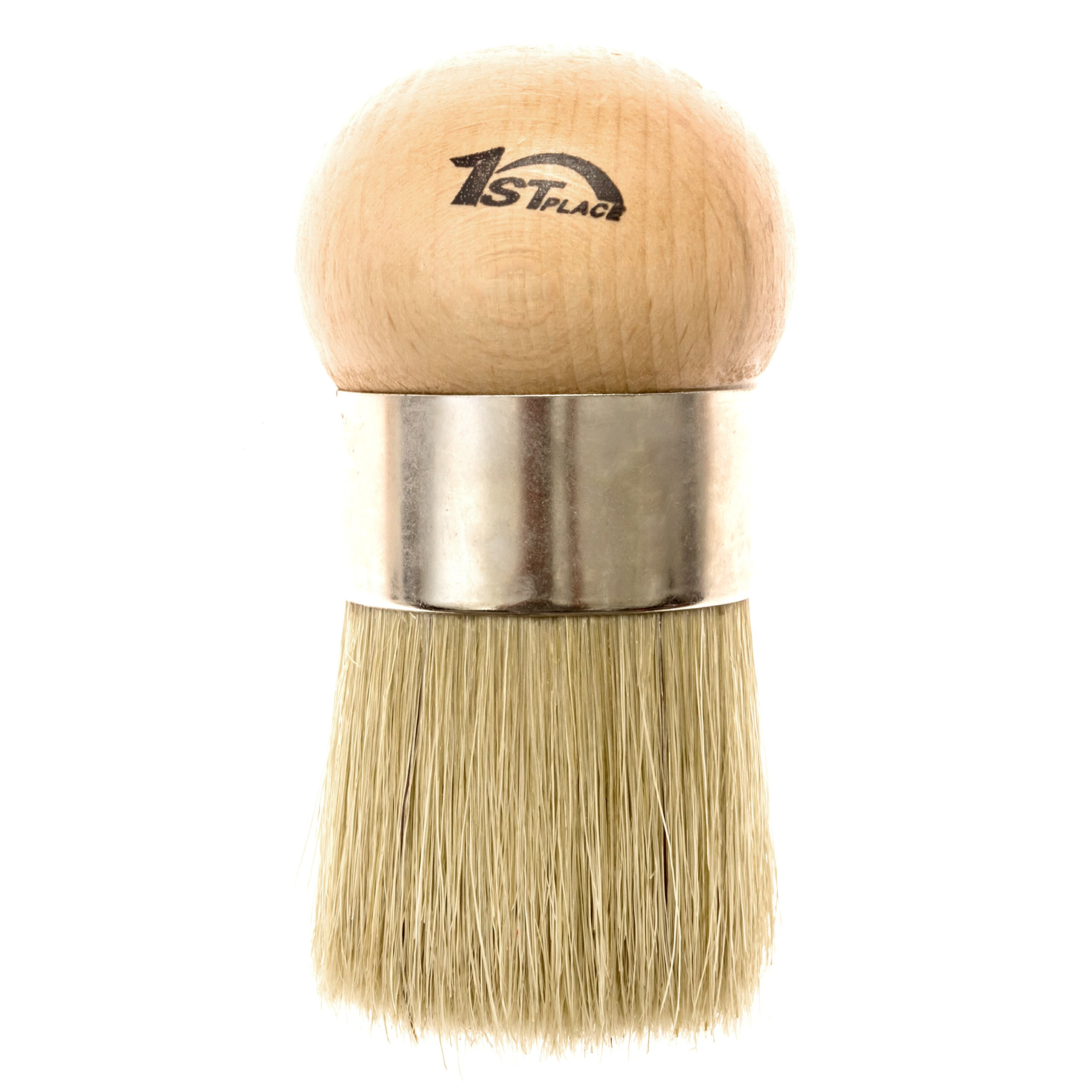 1st Place Products Large Wax & Paint Brush - Comfortable to Use - Great for Arthritic Hands - Hand Made - Natural Bristles by 1st Place Products