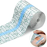 Transparent Stretch Adhesive Bandage Waterproof Bandage Clear Adhesive Bandages Dressing Tape for Tattoos (4 inch × 10…