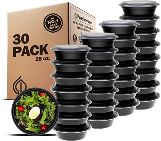 Bowls with Lids Freshware Meal Prep Containers 21 Pack Food Storage Bento Box