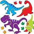 Gel Art Dinosaurs Window Decorations - Medium sized pack of 3D Printed Gels that stick to windows & mirrors etc