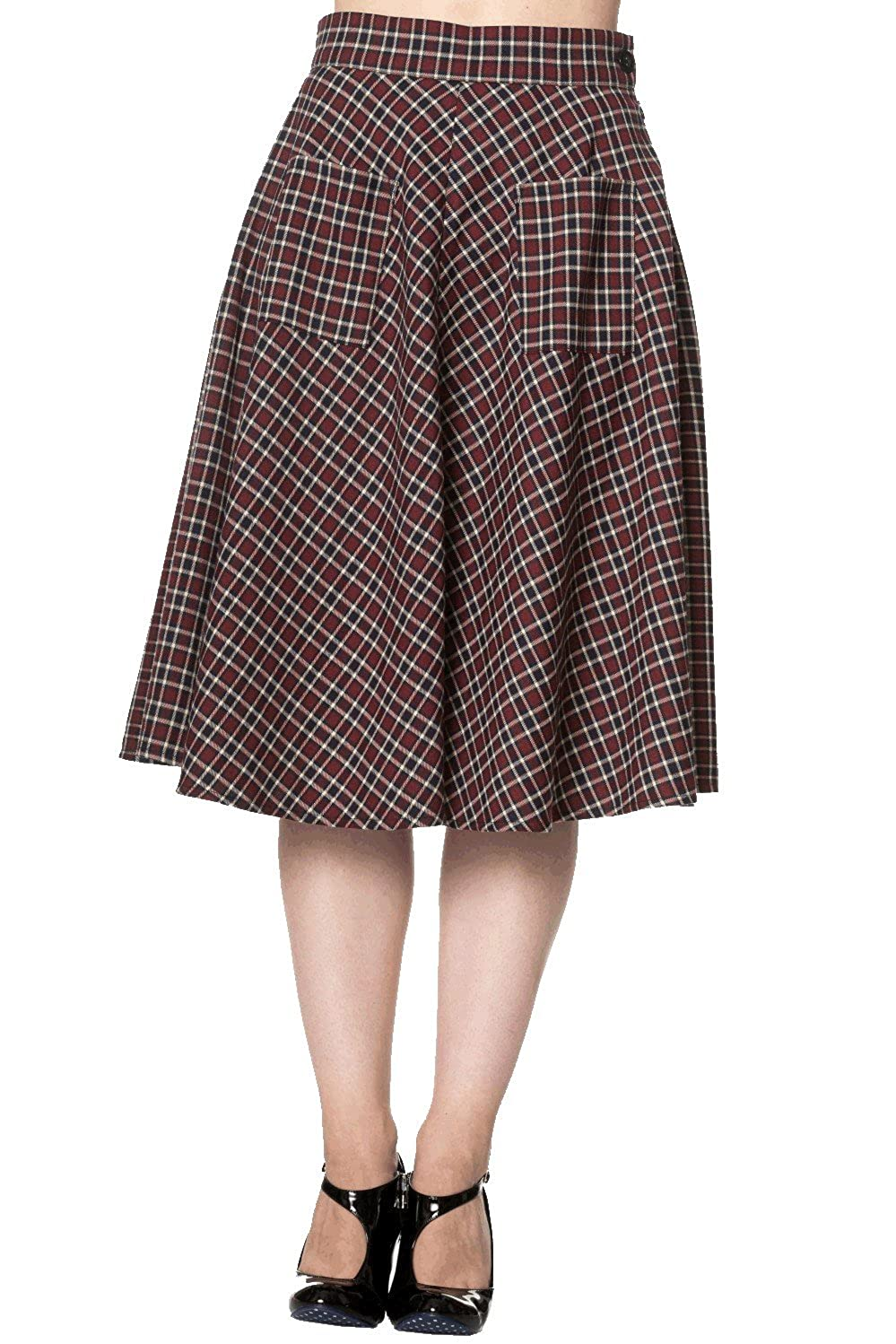 1940s Style Skirts- Vintage High Waisted Skirts Banned Apparel - Apple of My Eye Skirt $51.73 AT vintagedancer.com