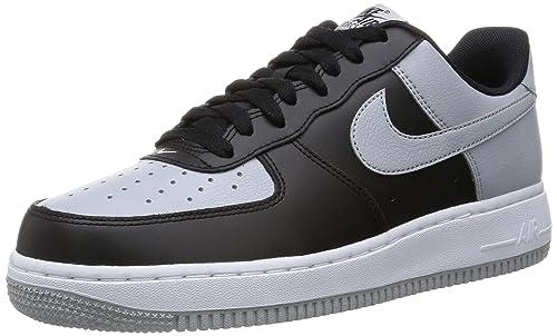 Nike Air Force 1 Men's Shoes BlackWolf GreyWhite 820266