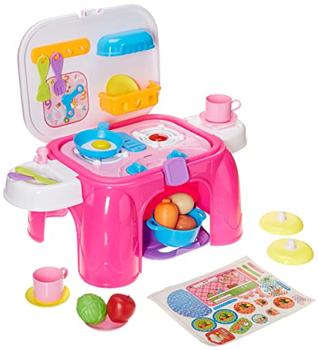 Kitchen Desk Playset, Real action kitchen playset, Kids Toy Kitchen Deluxe  Simulation Kitchen Kits Box Case Role Play Set Pretend Play Toys Plastic ...