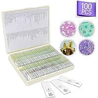 100 Piezas Portaobjetos de Microscopio Preparados, Muestras