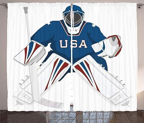 Hockey sliding curtains modern!