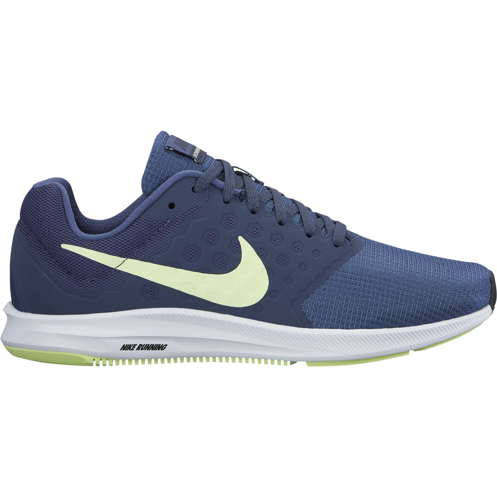 9b4cecfd48dd Galleon - NIKE Women s Downshifter 7 Running Shoe Blue Recall Barely  Volt Thunder Blue Size 7.5 M US