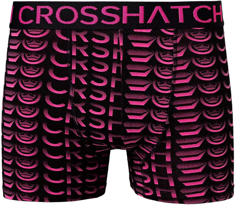 Crosshatch Mens Boxers Shorts Multipacked 3PK Underwear Gift Set 3 Pack Tresco Pink-saunton