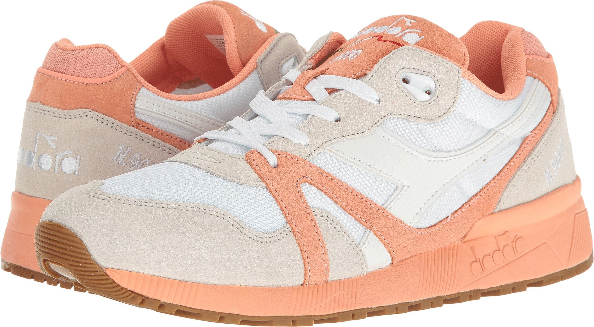 Diadora Unisex N9000 III White/Peach Pink 11.5 Women / 10 Men M US