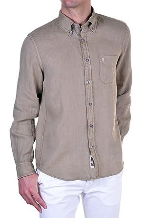 best loved 5cdae e0593 M C S - Camicia Uomo Regular Beige M: Amazon.it: Abbigliamento