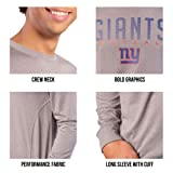 Ultra Game Men's NFL Athletic Quick Dry Long Sleeve T-Shirt, Green Bay Packers, Heather Gray, Large