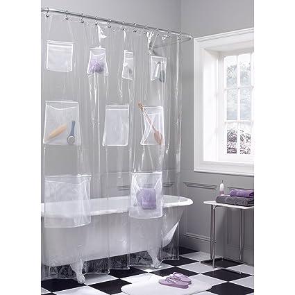 Amazon Com Maytex Quick Dry Mesh Pockets Waterproof Peva Shower
